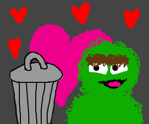 Oscar the grouch has found his soulmate