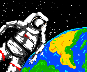 guy in space