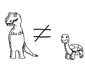 Dinosaurs aren't turtles