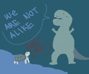 Turtles and Dinosaurs are not similar