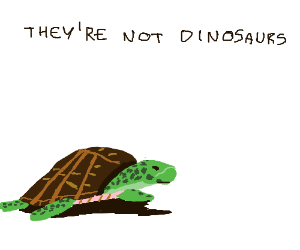 Dinosaurs and Turtles are not Alike