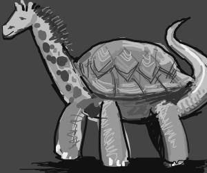 a turtle-dinosaur-giraffe!