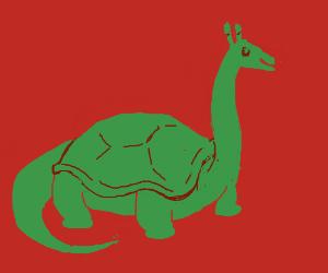 Giraffe Neck, Turtle Shelled, Dinosaur