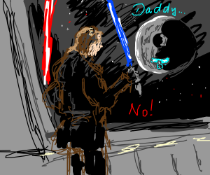 Anakin denies being the Death Star's father
