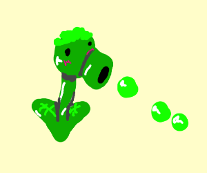 peashooter from plants vs zombies