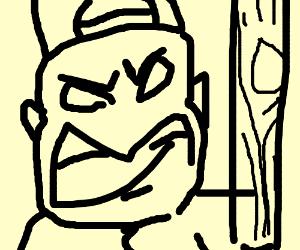angry baseball coach
