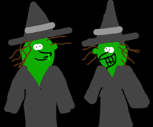 Witches with a booger on one's face