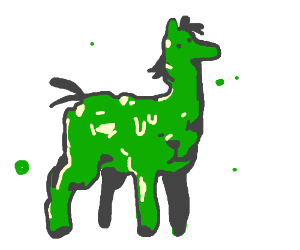 horse made entirely of spinach