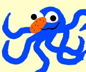Grover(the muppet)-squid fusion