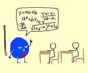 blue circle teaches math