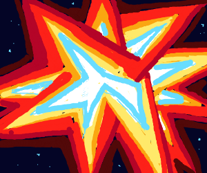 Exploding modern art star (shape)