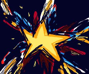 Star exploding