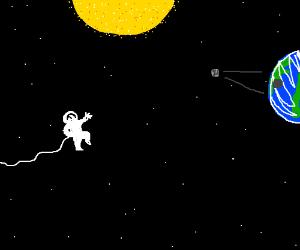 Astronaut sees solar eclipse