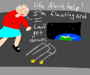 Life alert space addition gravity style