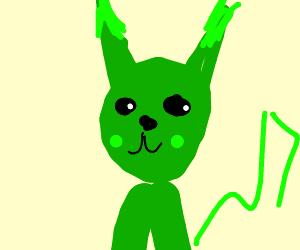 Green Pikachu Drawception