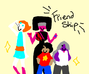 Steven universe crystal gems are FREINDS