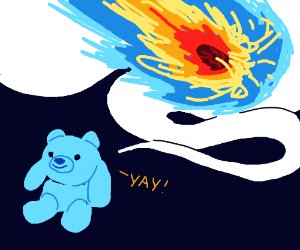 Snuffles/Snowball Imagines Giant Ice Meteor
