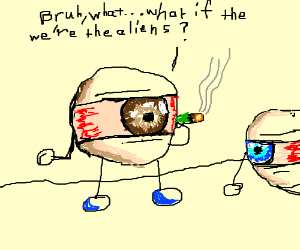 stoned eye drawing by ned innis drawception
