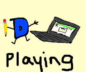 Drawception D plays a Drawception game