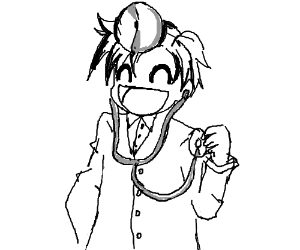 a REALLY happy doctor