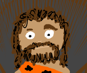 Caveman with uneven eyebrows