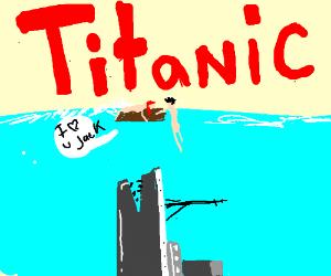 titanic eats jack and rose