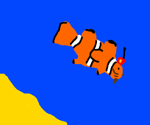Clownfish with Fez and Facial Hair