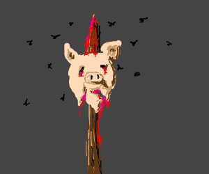 lord of the flies pigs head