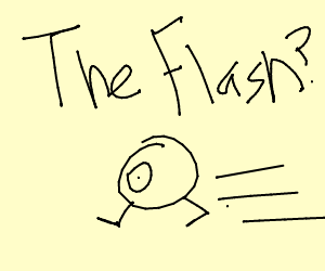 Mike Wazowski As Jay Garrick As The Flash Drawing By Daria Fishman