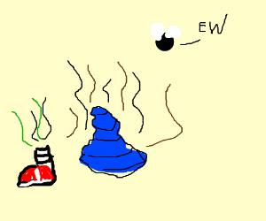a blue turd