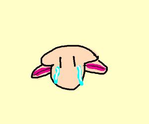 Blobby fish head looking sad