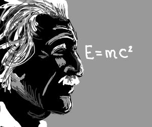 Einstein Silhouette