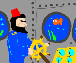 Captain Nemo (James Mason) wearing a fez hat