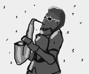 Jazz Knight plays the Sax