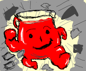 All the other kids... (cont song) - Drawception Hey Kool Aid Videos Breaking Through Walls