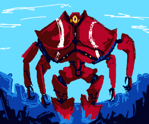 a giant crab(reference i don't get?)