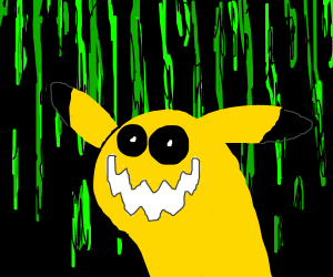 Demonic pikachu in a binary universe