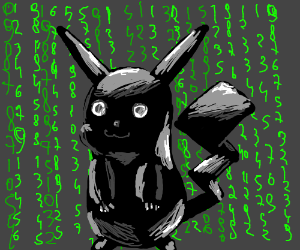 Black Pikachu in the Matrix