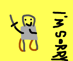 Happy bow-legged swordsman