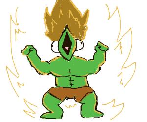 Super saiyan lizard powering up