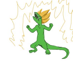 super saiyan lizard