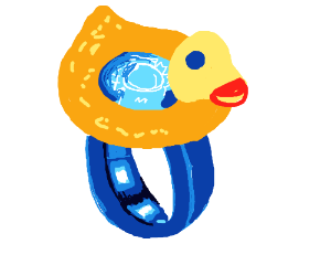 Diamond duck ring