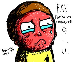 Fav cartoon character Pio (mines rick sanchez
