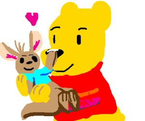 Winnie The Pooh Hugging Roo <3