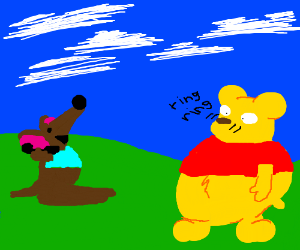 Roo calls Pooh's nose