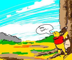 Winnie the Pooh flirts with Kanga