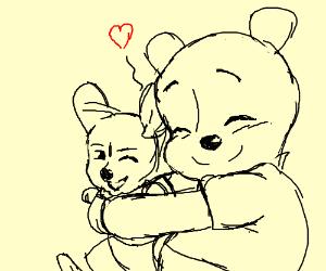 Winnie the Pooh loves Roo