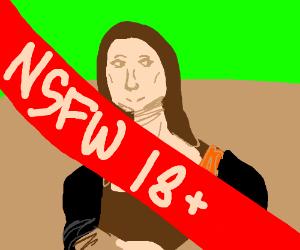 the mona lisa is NSFW