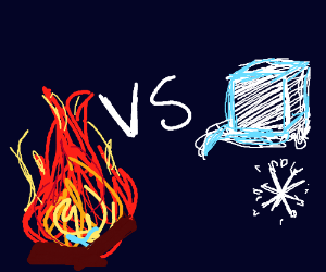 fire element vs ice element