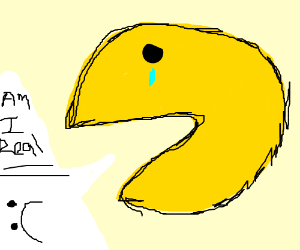 pacman questioning his existence